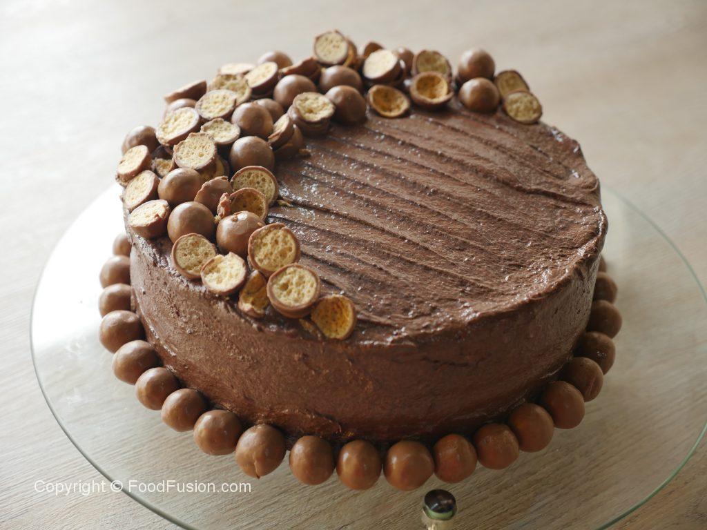 Chocolate Malt Cake - Food Fusion